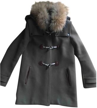 Sandro Fall Winter 2019 Khaki Wool Coat for Women