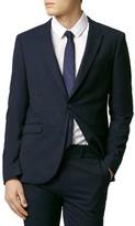 Topman Men's Skinny Fit Navy Blue Suit Jacket