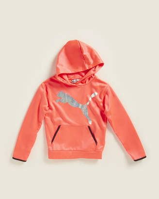 Puma Girls 7-16) Pink Glow Big Cat Pullover Fleece Hoodie