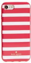 Kate Spade Fairmount Square Stripe Iphone 7 Case - Pink