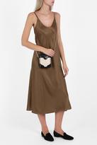 Helmut Lang Satin Drape Cami Dress