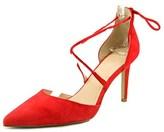 Tahari Blair Women Pointed Toe Suede Red Heels.