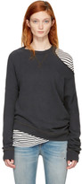 R 13 Black Distorted Sweatshirt