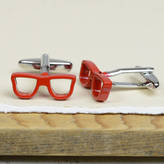 Bobby Rocks Red Spectacles Glasses Cufflinks