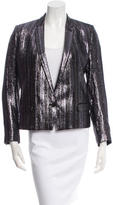 The Kooples Metallic Notch-Lapel Blazer