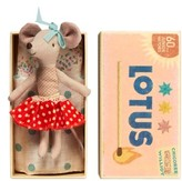 Toddler Maileg Big Sister Stuffed Toy Mouse In A Box