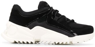 Salvatore Ferragamo Chunky Saw-Sole Low-Top Trainers