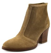 Aquatalia by Marvin K Faris Women Round Toe Suede Tan Ankle Boot.