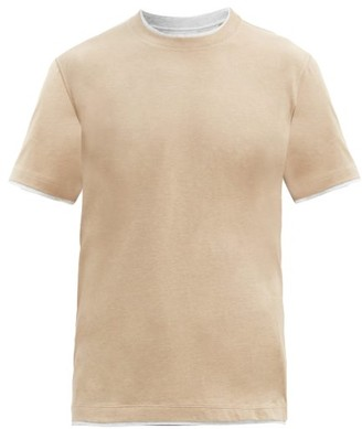 Brunello Cucinelli Layered Cotton T-shirt - Light Brown