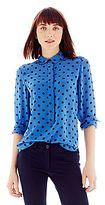 Joe Fresh Joe FreshTM 100% Silk Print Shirt