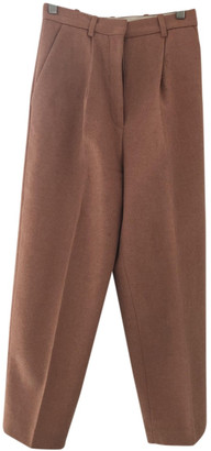 Acne Studios Pink Wool Trousers