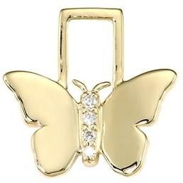 Robinson Pelham EarWish 14K Yellow Gold & Diamond Butterfly Single Earring Charm