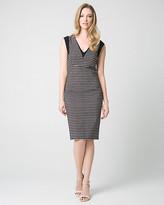 Le Château Geo Print Tech Stretch V-Neck Shift Dress