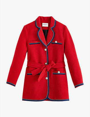 Claudie Pierlot Gamin contrast-trim tweed coat