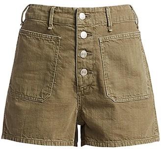 Rag & Bone Military High-Rise Shorts