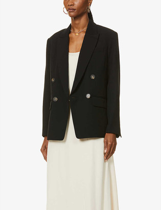 Vince Double-breasted woven blazer