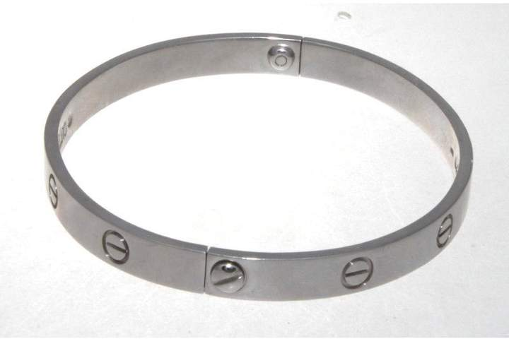 Cartier Love 18K White Gold Bracelet Size 19