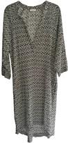 Masscob Black Cotton Dress for Women