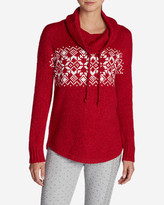 Eddie Bauer Women's Fair Isle Funnel Neck Sleep Sweater