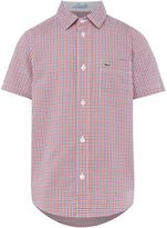 Lacoste Boys Short Sleeve Gingham Check Shirt