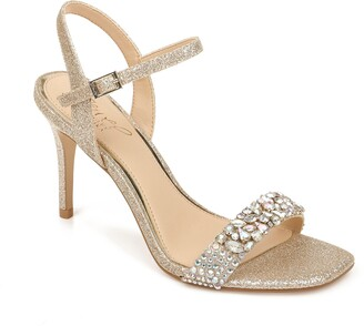 Badgley Mischka Natasha Crystal Embellished Sandal