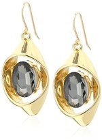 "Trina Turk Psychadelica"" Open Link Stone Drop Earrings"