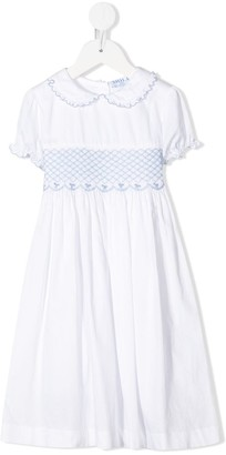 Siola embroidered panel Peter Pan collar dress