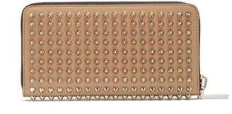 Christian Louboutin Panettone Spike-embellished Leather Wallet - Mens - Tan