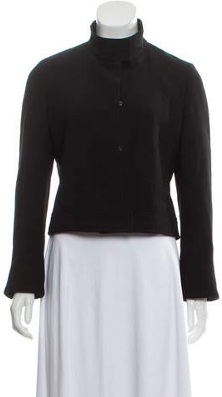 Burberry Wool Cropped Jacket Black Wool Cropped Jacket