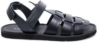 Prada Strapped Logo Detail Sandals