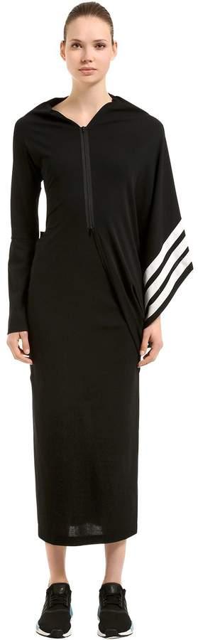 Y-3 Striped Cotton Knit Kimono Dress