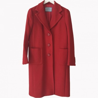 Prada Red Wool Coats