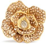 Oscar de la Renta Rosette crystal-embellished ring
