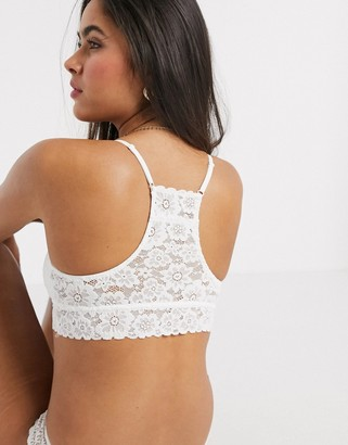 aerie softest padded push up bralette in white