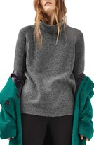 Topshop Women's Oversize Turtleneck Sweater