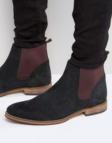 Asos Chelsea Boots in Black Suede