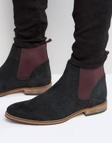 Asos Chelsea Boots in Black Suede