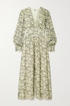 Jason Wu Floral-print Fil Coupe Silk-blend Chiffon Maxi Dress - Ivory