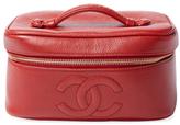 Chanel Vintage Red Caviar Vanity Wide