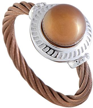Charriol Stainless Steel Pearl Ring
