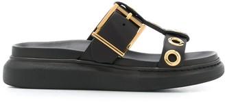 Alexander McQueen Hybrid buckle-strap sandals