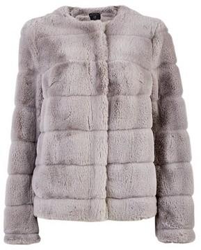 Dorothy Perkins Womens Grey Short Faux Fur Jacket, Grey