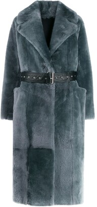 Common Leisure LOVE belted coat