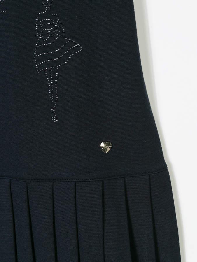 Armani Junior pleated embellished dress