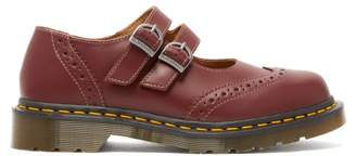 Comme des Garcons X Dr Martens Dolly Buckled Leather Brogues - Womens - Red