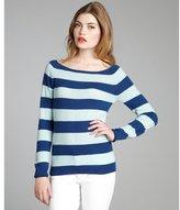 MAI chill and denim stripe cashmere 'Ballerina' crewneck sweater