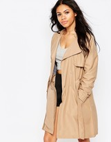 Brave Soul Longline Belted Trench