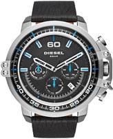 Diesel Men's Deadeye Chronograph Leather Strap Watch, 56mm