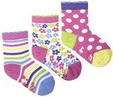 Jo-Jo JoJo Maman Bebe 3 Pack Socks (Baby)-Pink/Blue-0-6 Months