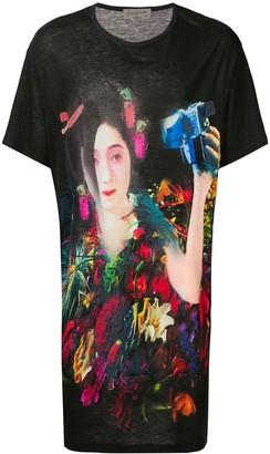 Yohji Yamamoto oversized print T-shirt